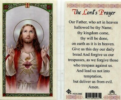 The Lords Prayer Card Our Father Who Art in Heaven Catholic Holy Cards HC9-226E