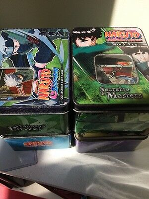 Huge Naruto Lot 4 Tins Full Of Cards