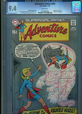 Adventure Comics #395 Nm 9.4 Cgc White Pages General Zod App. Swan Anderson Cove
