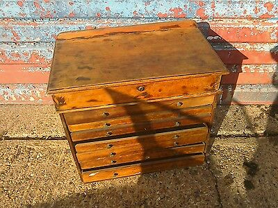 vintage architects plan chest of drawers