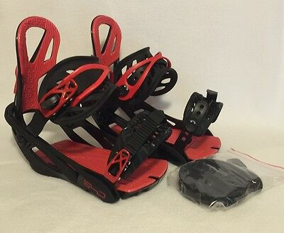 New Mens 540 Pro Snowboard Bindings Black/red Size: Large 5-9 W/ Burton Sticker