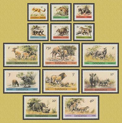 Tanzania 1980 Wildlife Definitives (14) Mnh