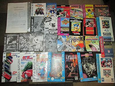 SEGA GAME BOOKLETS..Lot of over 25 BOOKLETS!!!