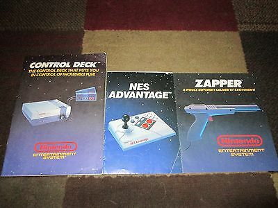 NINTENDO  BOOKLETS...Lot of 3 ACCESSORY BOOKLETS!!!