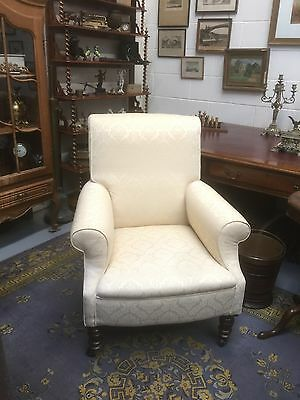 A Fine Antique Armchair, Very Well Upholstered. Open To Offers.