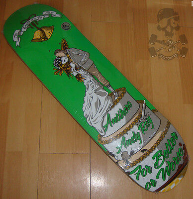 """ANTI HERO  Skateboard Deck - Andy Roy - For Worse - Green 8.12"""" wide"""