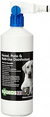 Aqueos Kennel And Patio Disinfectant With Hosepipe Attachment, 1 Litre