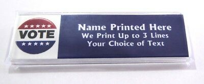 Vote Button Custom Name Tag Badge ID Pin Magnet for Voting Election Political