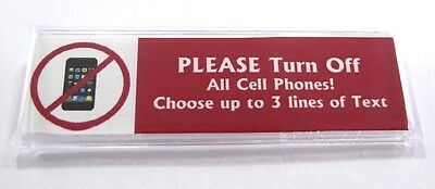Cell Phone NO Custom Name Tag Badge ID Pin Magnet for Business Turn off Phones