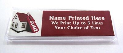 House Sold Red Custom Name Tag Badge ID Pin Magnet for Real Estate Agents Sales