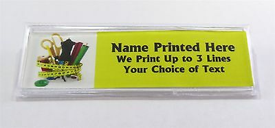 Sewing Supplies Custom Name Tag Badge ID Pin Magnet for Seamtress Tailor Quilter