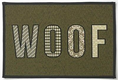 Petrageous Woven Tapestry Non Slip Pet Dinner Placemat WOOF, 13 X 19-inch