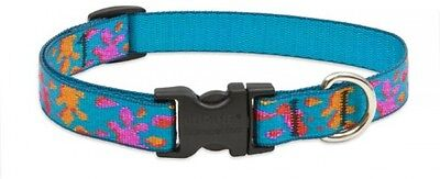 Lupine Wet Paint Patterned Adjustable Dog Collar For Medium/ Large Dogs, 13 -