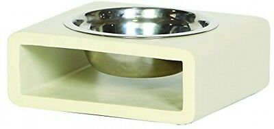 Unleashed Life Phorn Collection Dog Bowl, Small, Cream