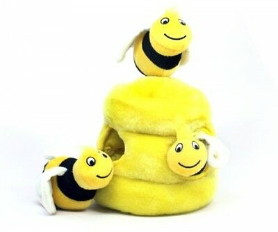 Outward Hound Kyjen 31010 Hide A Bee Dog Toys Interactive Plush Squeak 4-Piece