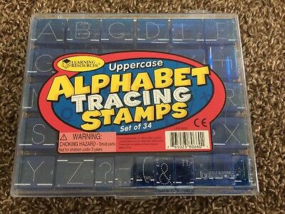 Learning Resources Uppercase Alphabet Tracing Stamps English Rubber Teaching Set