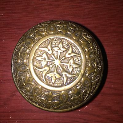Antique Fancy Cast Brass Doorknob Door Knob  #B