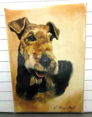 """AIREDALE TERRIER  Decorative/Refrigerator Magnet by Maystead / 2"""" x 3"""""""