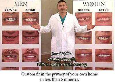 MEDIUM SIZE VENEERS INSTANT SMILE BEAUTIFUL PERFECT TEETH dentures MAKEOVER NEW