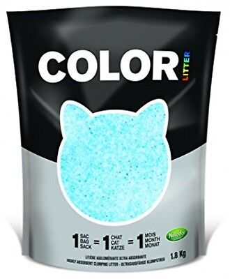 Color By Nullodor Clumping Silica Cat Litter 1.8 Kg Blue