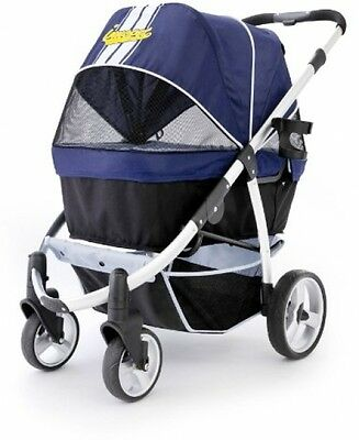 Pet Stroller,IPS-06/Navy-Blue, Dog Carrier, Trolley, Trailer, Innopet, Buggy