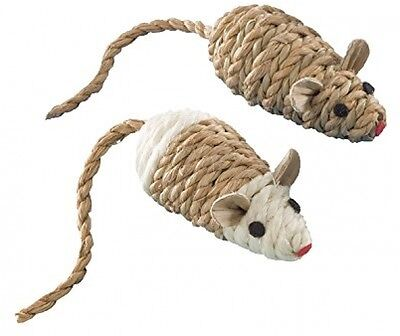 Nobby Sisal Mouse With Rattle, 2 X 8 Cm