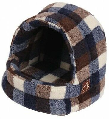 Gor Pets Highland Hooded Warm Luxury Cat Bed Igloo - Large (Autumn Check)