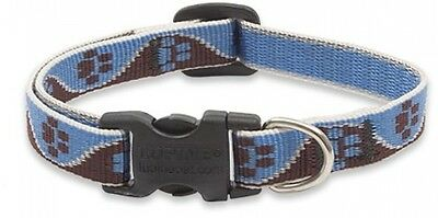 Lupine Muddy Paws Patterned Adjustable Dog Collar For Small Dogs, 1/2-inch/ 10