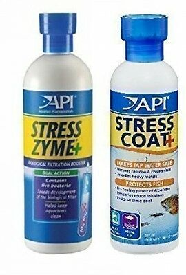 Aquarium Fish Tank Water Treatment and Conditioner Stress Zyme and Stress Coat