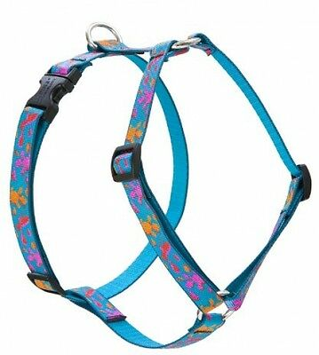 Lupine Wet Paint Patterned Roman Harness For Small Dogs, 3/4-inch/ 12 - 20-inch