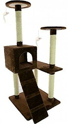 Mool Deluxe Cat Activity Centre And Scratching Tree/ Post With Hidey-Hole/ 132