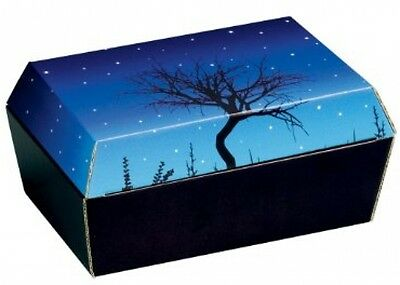 Amopet Corrugated Cordboard Size 1 Pet Coffin/ Casket For Small Birds Rodents,