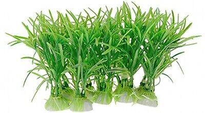 Sourcingmap Plastic Aquarium Fish Tank Plant Decor, Green