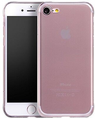 IPhone 7 Case, PUGO TOP® Matte Black Clear Back TPU Bumper [Drop Protection/ 7