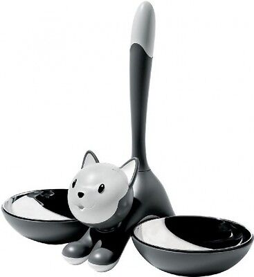 A Di Alessi Tigrito Cat Bowl, Grey