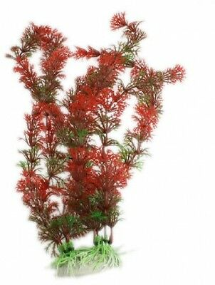 Fish Tank Emulational Water Plant Grass Decor Red Green