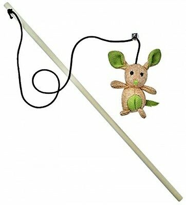 Catnip Toy By 3Cats - Stuffed Mouse - Teaser Wand - Elastic Cord With Bell -