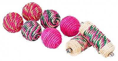 Blueberry Pet Toys For Cat Natural Sisal Rolls and Balls Cat Toy - 8-piece Pack