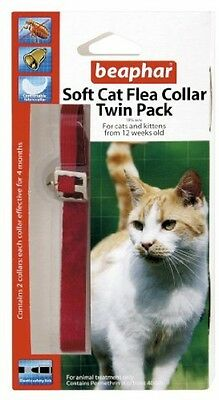 Beaphar Cat Flea Collar Velvet - Red