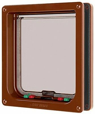 Cat Mate Large 4-way Cat Flap Brown