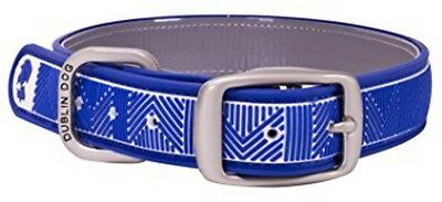 Dublin Dog All Style No-Stink Chevron Dog Collar, Medium, Atlantic Blue