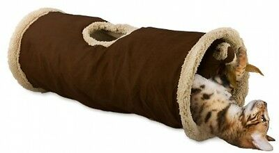 Cat Tunnel With Lambswool And Toy (Assorted Colour)