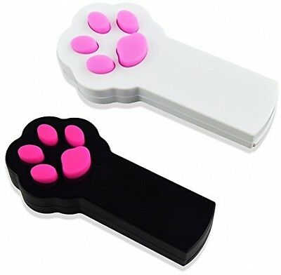 Gimars Paw Style Dog Cat Catch The Interactive LED Light Pointer Red Pot Chaser
