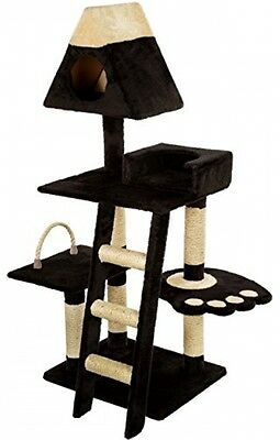 Mool Deluxe Cat Scratching Tree/ Post Activity Centre With 2 Hidey-Holes And 4