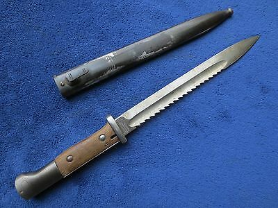 Original Ww1 German Sawback Bayonet With Correct Scabbard