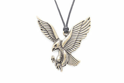 Eagle Unisex Fashion Pendant Necklace with Black Cord-K278