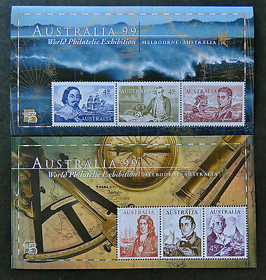Australian Decimal Stamps: 1999 Navigators-Perforated Mini Sheets x 2 MNH
