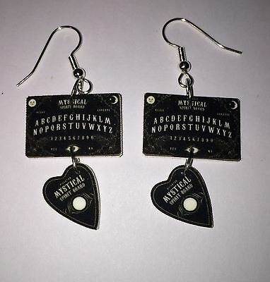 Ouija Board Earrings Planchette Mystical Spirit Board Charms