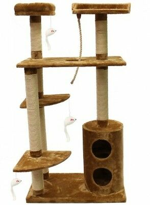 Mool Deluxe Cat Scratching Tree/ Post Activity Centre With 5 Platforms/ And 76