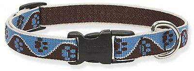 Lupine Muddy Paws Patterned Adjustable Dog Collar For Small/ Medium Dogs, 9 -